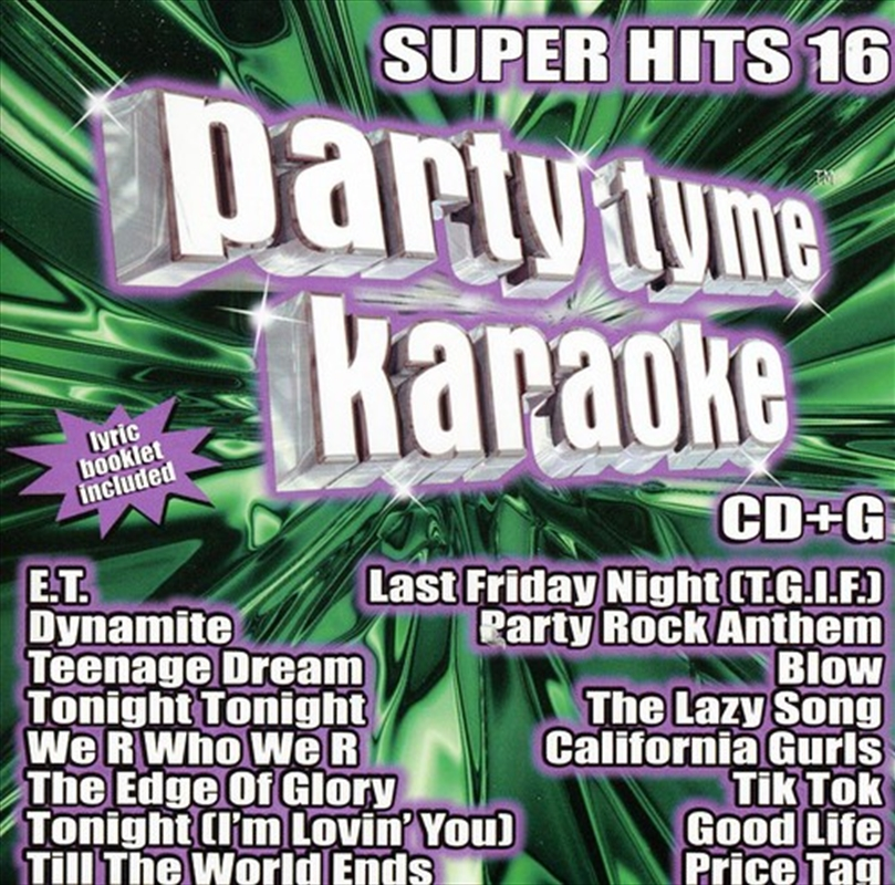 Party Tyme Karaoke: Super Hits; V16 | CD