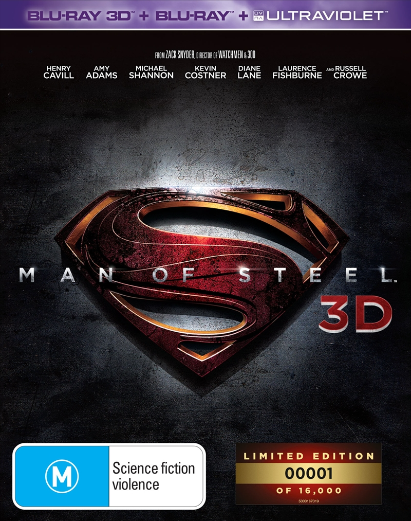 Man Of Steel 3D (EXCLUSIVE EDITION) | Blu-ray