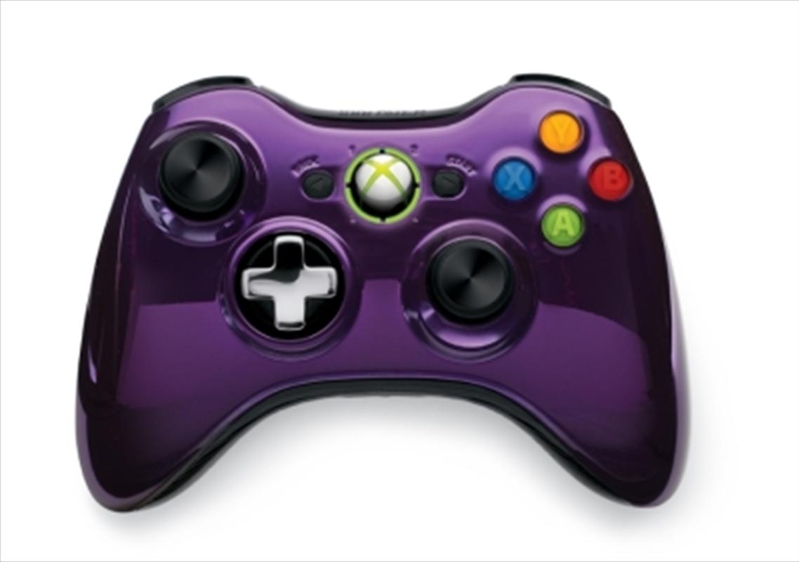 Xbox 360 Wireless Controller (Purple Chrome) | Games