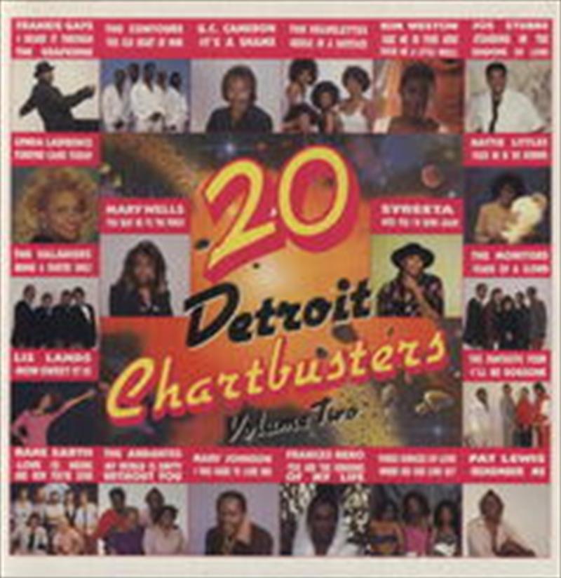 20 Detroit Chartbusters 2 | Vinyl