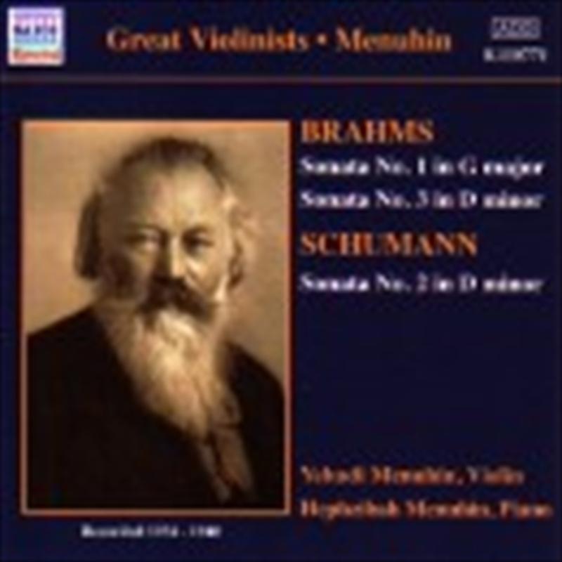 Brahms: Violin Sonatas Nos 1 & 3/Schumann: Violin Sonata No 2 | CD