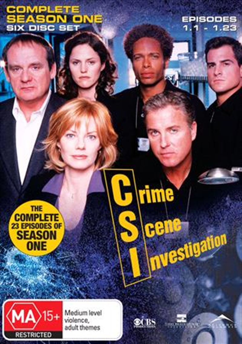 CSI: Crime Scene Investigation - Season 01 | DVD
