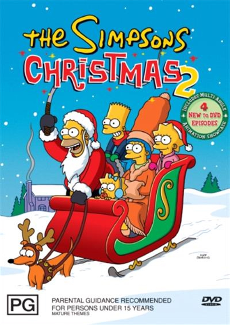 The Simpsons Christmas Dvd.Buy Simpsons Christmas With The Simpsons 2 On Dvd Sanity
