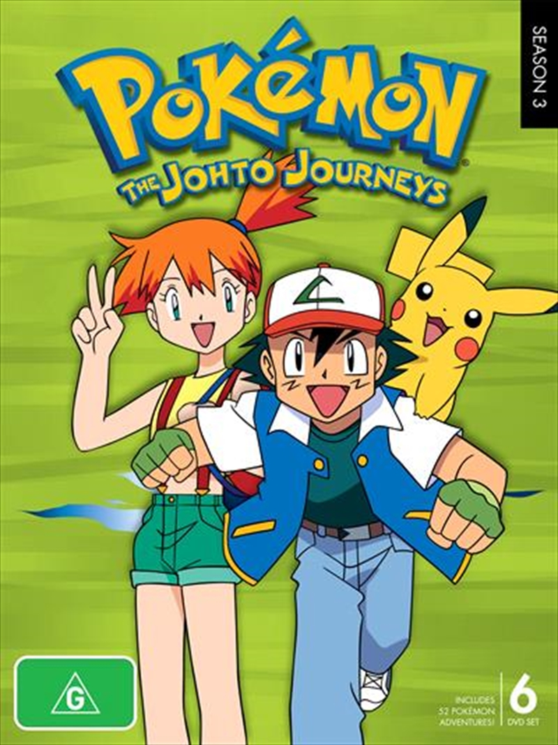 Pokemon - Season 3 - Johto Journeys  sc 1 st  Sanity & Buy Pokemon Season 3 Johto Journeys on DVD | Sanity