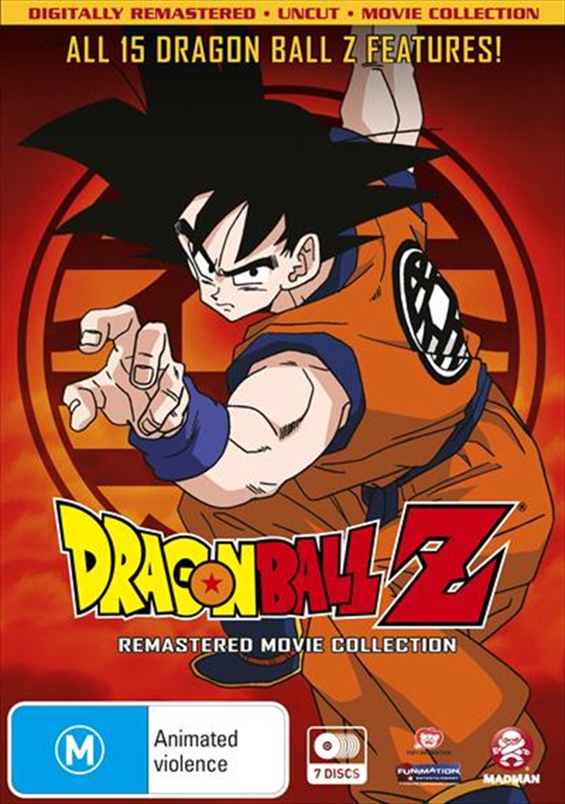 Dragon Ball Z Remastered Movie Collection Uncut | DVD