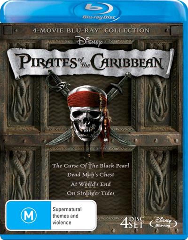Pirates Of The Caribbean Quadrilogy Boxset Action Blu Ray Sanity