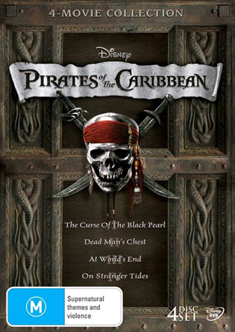 Pirates Of The Caribbean - Quadrilogy Boxset | DVD