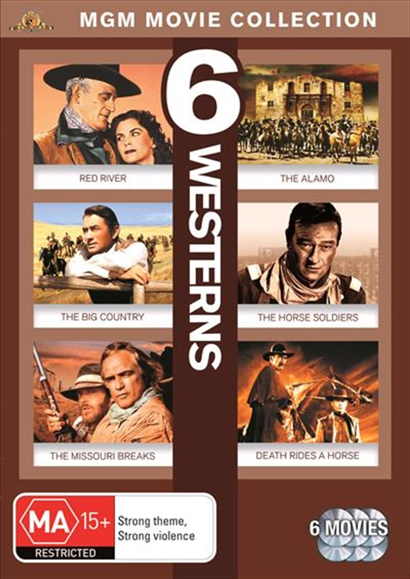 Westerns - Red River / The Big Country / The Alamo / The Horse Soldiers / The Missouri Breaks / Deat | DVD