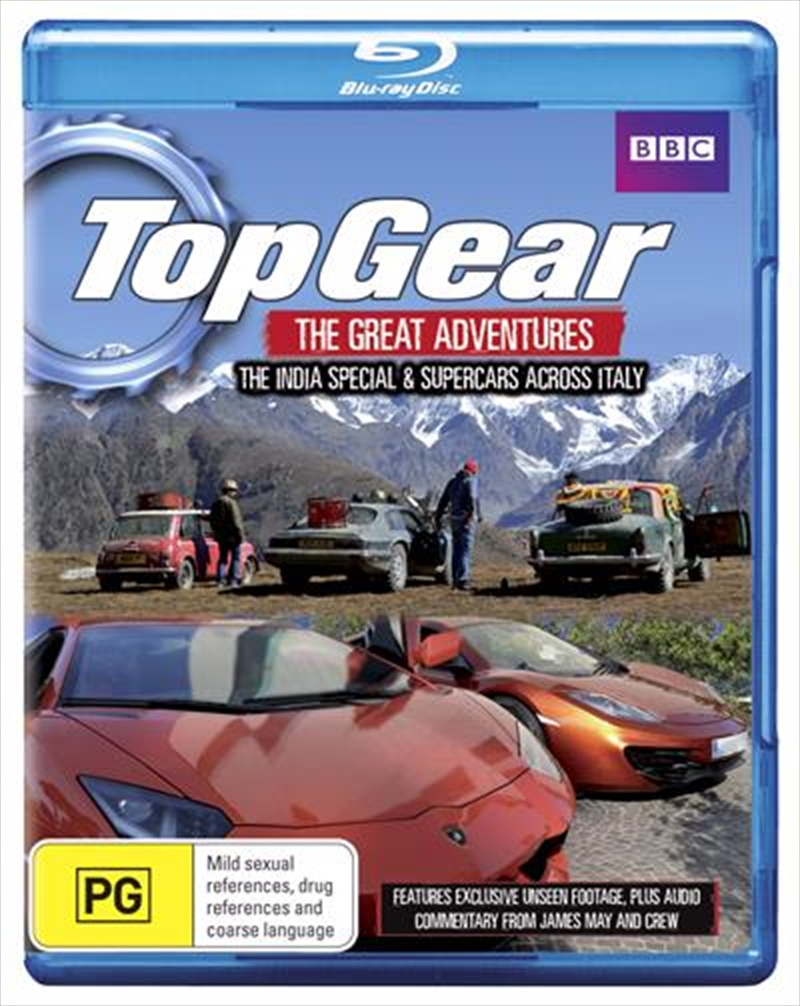 Top Gear:  The Great Adventures: The India Special / Supercars Across Italy | Blu-ray