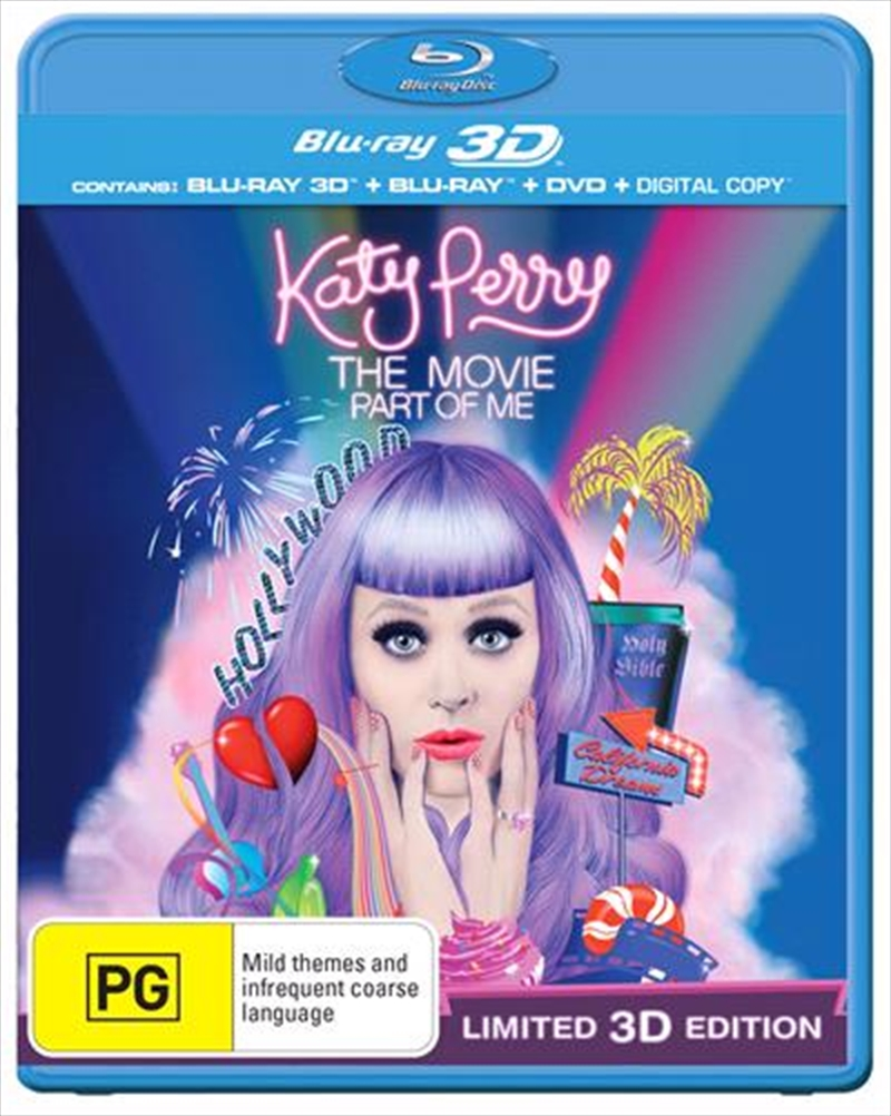 Katy Perry: Part Of Me (3D + 2D Blu-ray + DVD + Digital Copy) | Blu-ray 3D