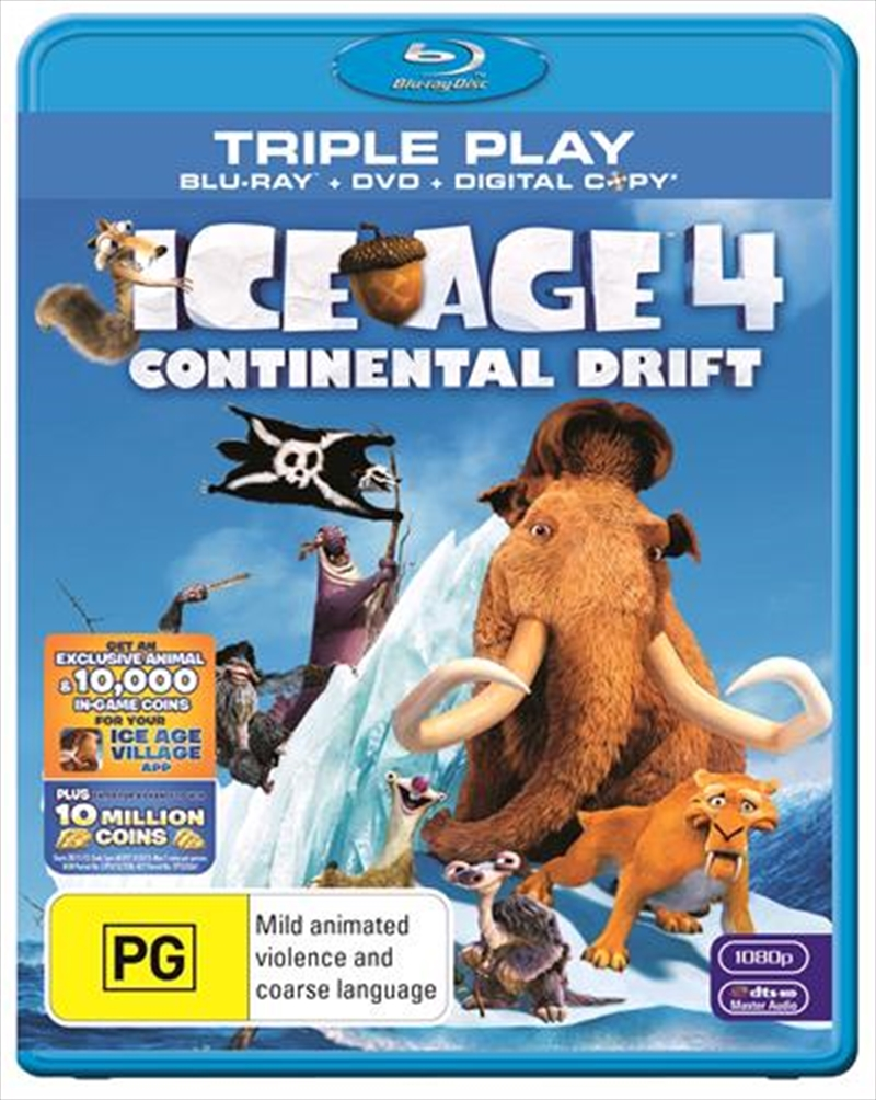 Ice Age 4 - Continental Drift | Blu-ray + DVD + Digital Copy | Blu-ray/DVD