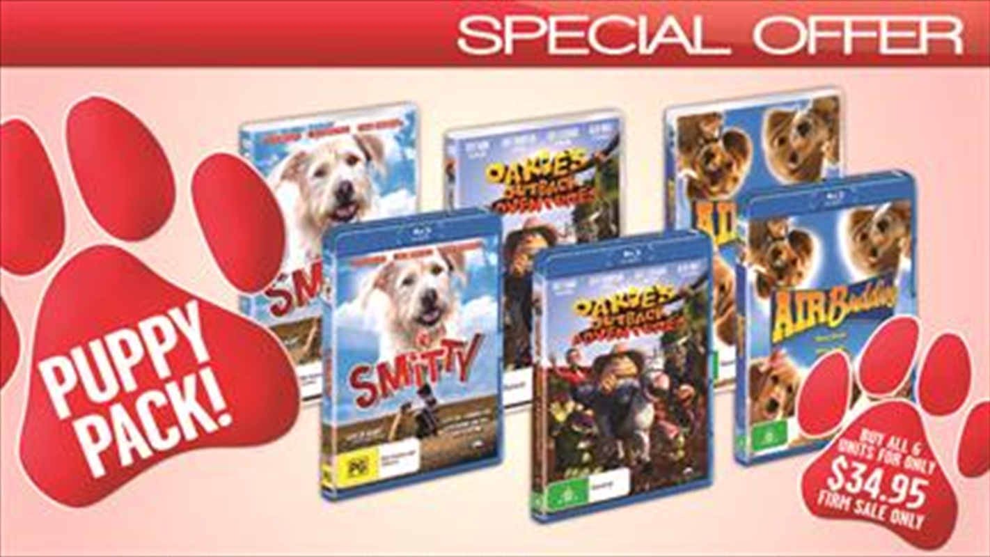 Puppy Pack - Smitty/Oakie's Outback Adventures/Air Buddies | Blu-ray/DVD