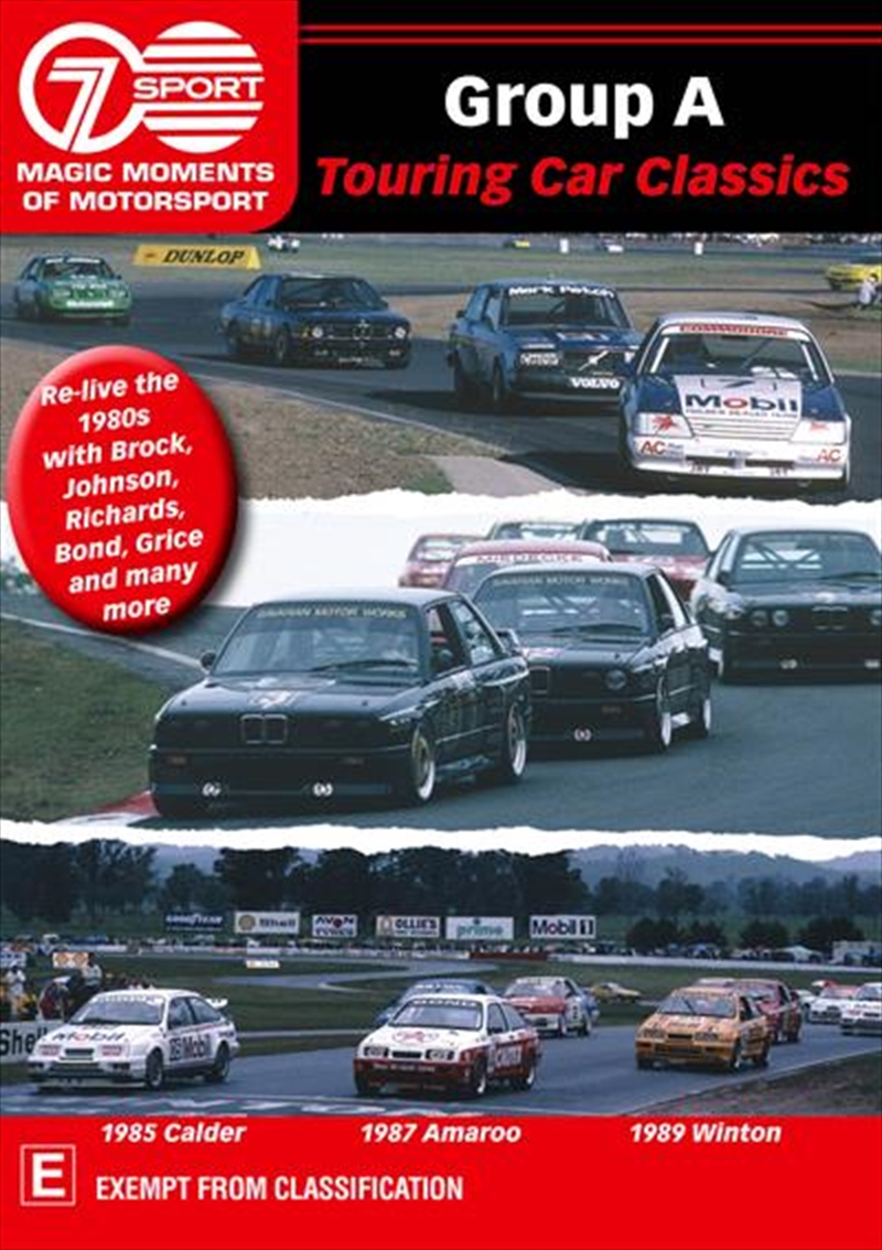 Group A Touring Car Classics: Magic Moments Of Motorsport | DVD
