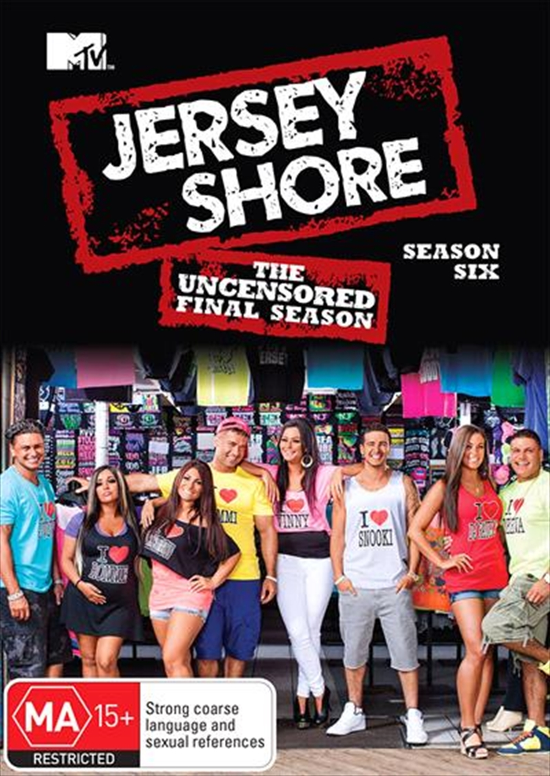 Jersey Shore - Season 6 | The Uncensored Final Season | DVD