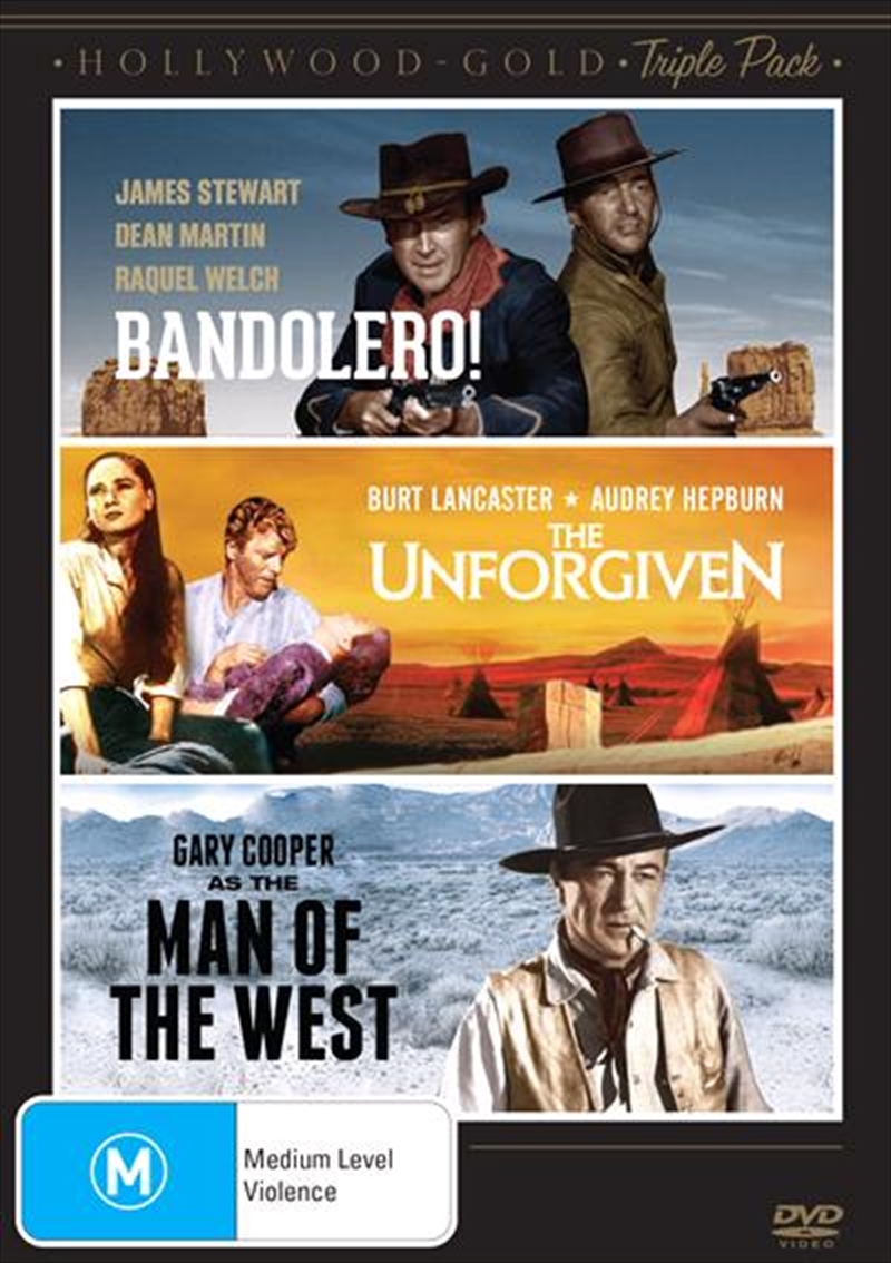Hollywood Gold - Western - Bandolero /The Unforgiven / Man Of The West | Triple Pack | DVD