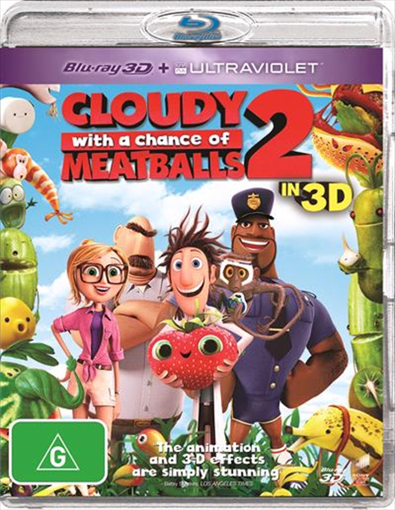 Cloudy With A Chance Of Meatballs 2   3D Blu-ray + UV   Blu-ray 3D