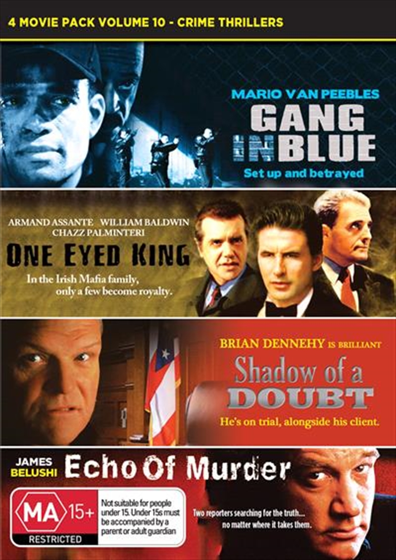 Buy Crime Thrillers Movie Pack On Dvd Sanity