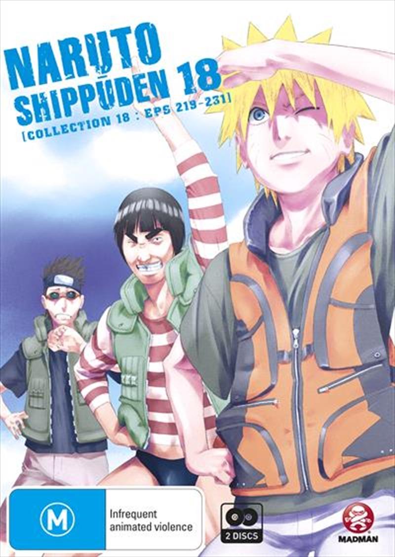 Naruto Shippuden - Collection 18 - Eps 219-231   DVD