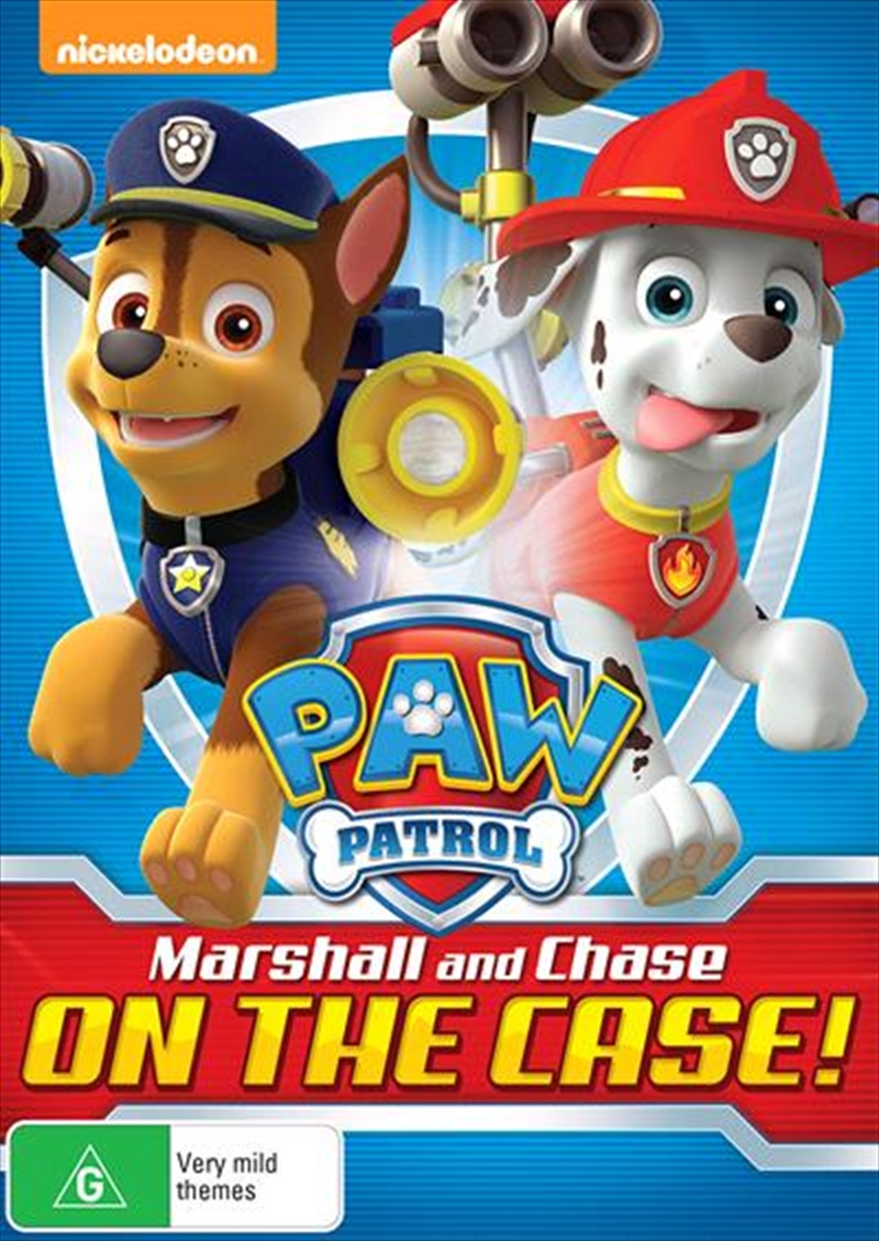 Paw Patrol - Marshall And Chase On The Case | DVD