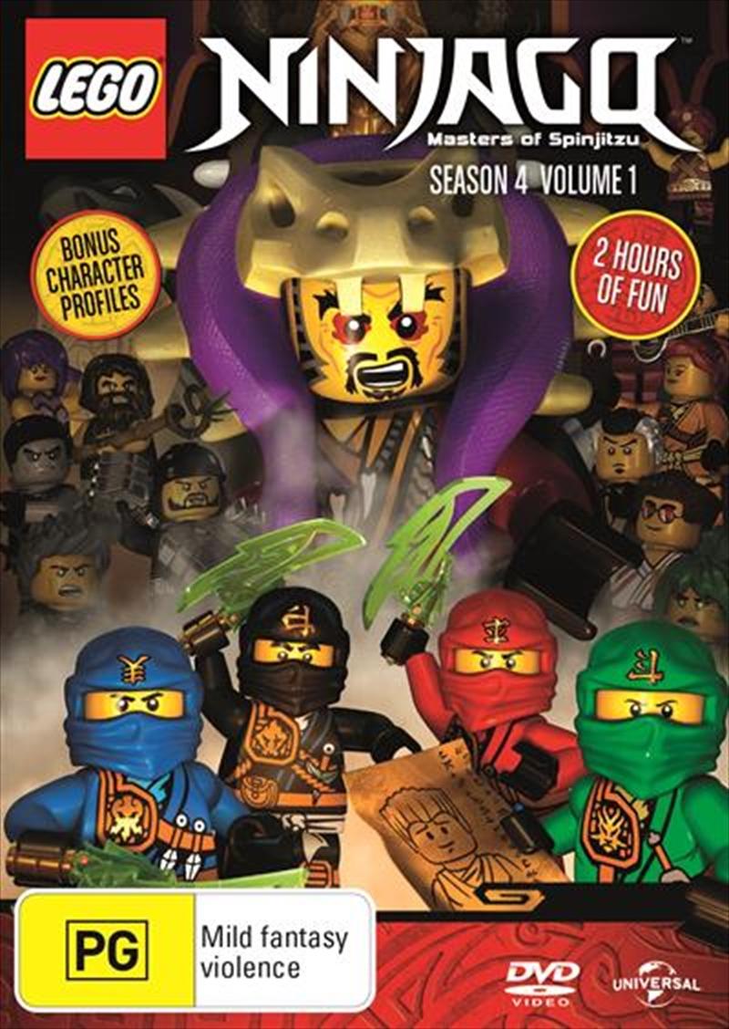 LEGO Ninjago - Masters of Spinjitzu - Series 4 - Vol 1 | DVD