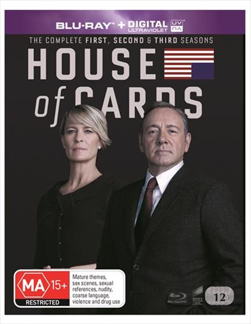 Buy House Of Cards Season 1 3 Boxset Sanity