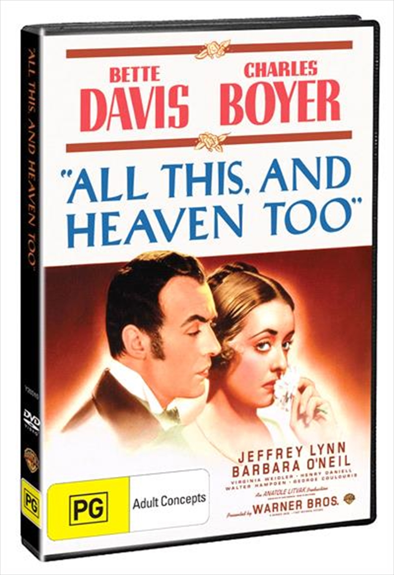All This, And Heaven Too | DVD