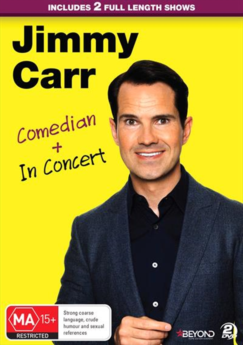 Jimmy Carr - Comedian and In Concert | DVD
