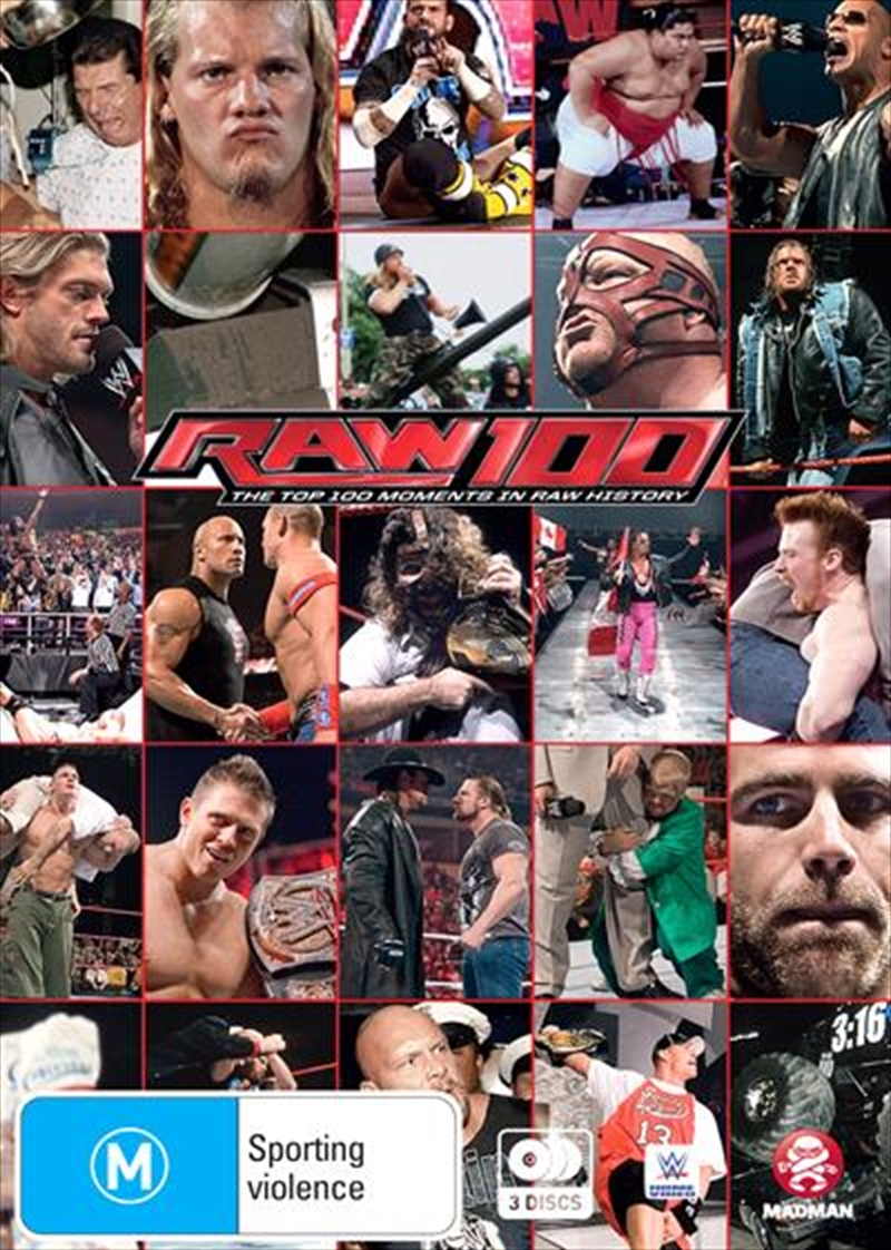 WWE - The Top 100 Moments In RAW History | DVD