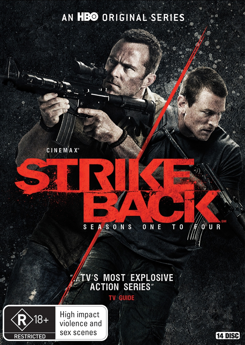 Buy Strike Back - Season 1-4 on DVD | Sanity Online
