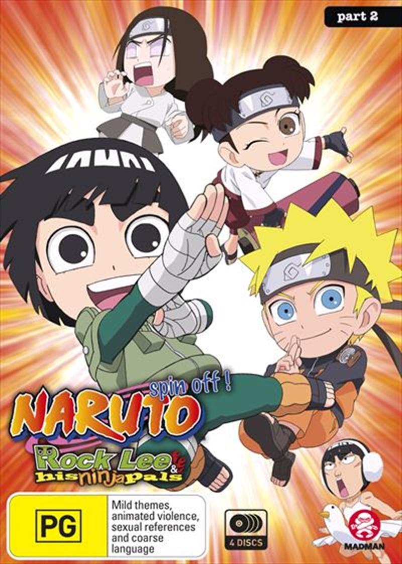 Naruto Spin-Off - Rock Lee And His Ninja Pals - Part 2 - Eps 27-51   DVD