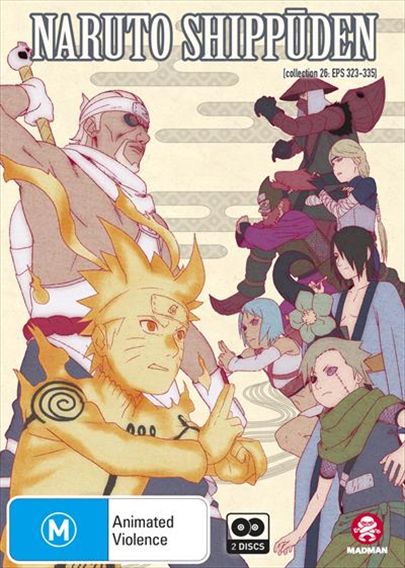 Naruto Shippuden - Collection 26 - Eps 323-335   DVD