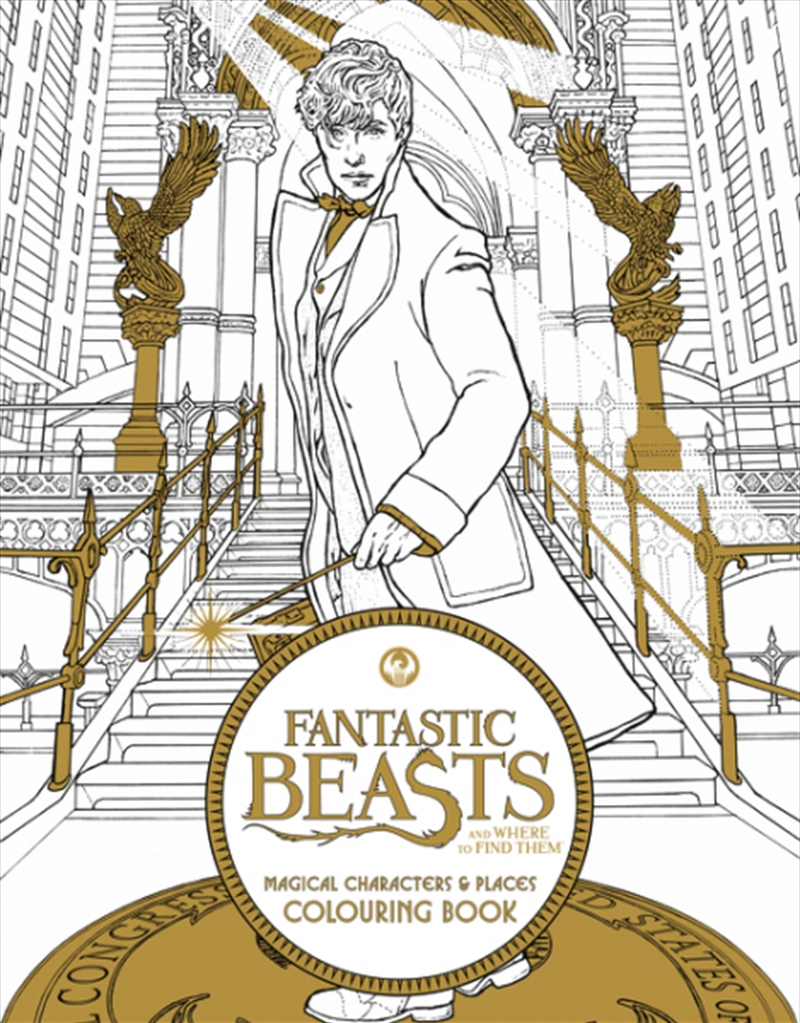 Fantastic Beasts and Where to Find Them: Magical Characters and Places Colouring Book