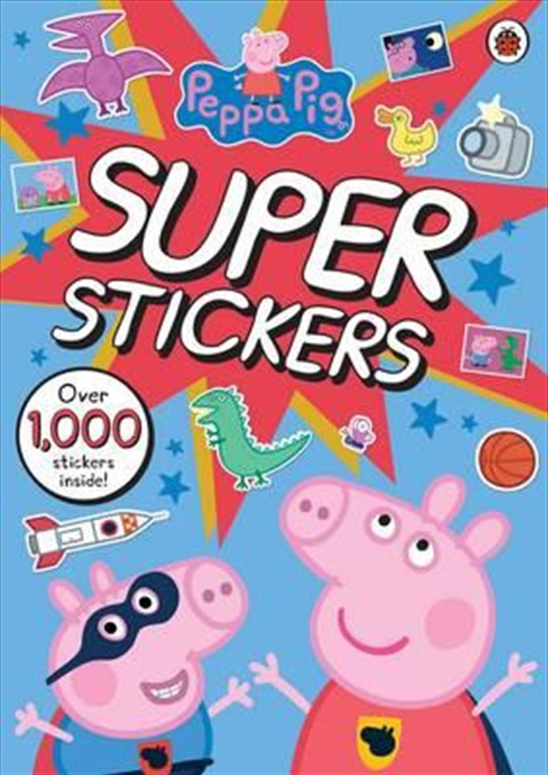 Peppa Pig Super Stickers Activity Book   Paperback Book