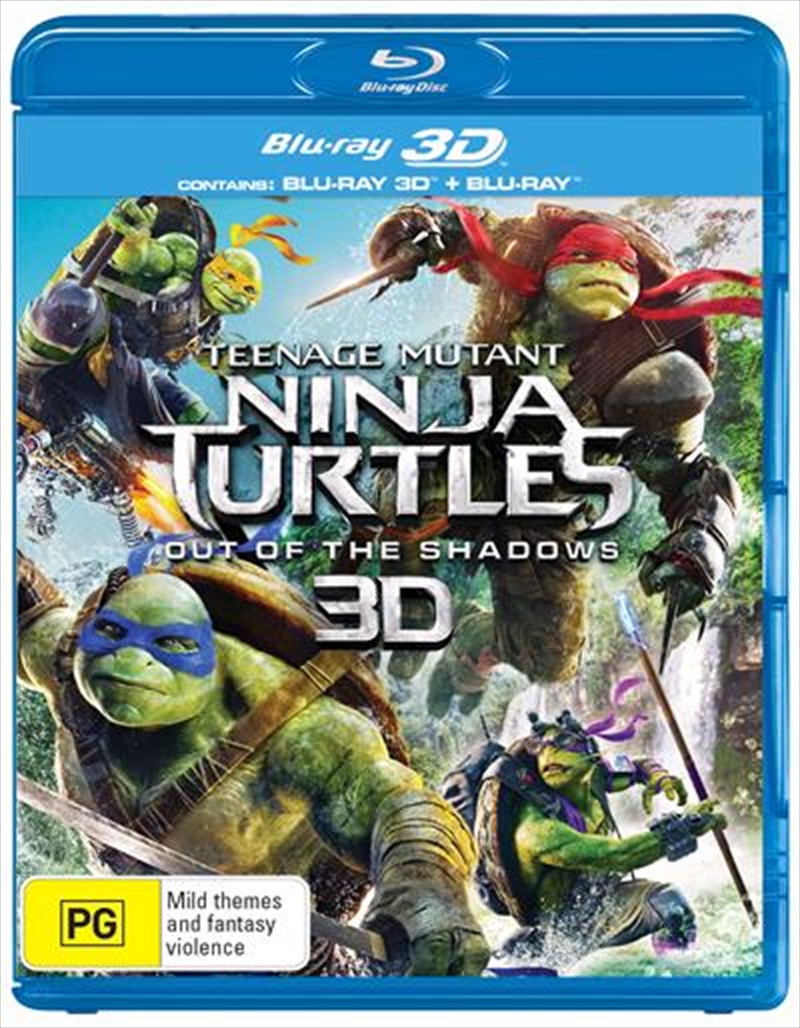 Teenage Mutant Ninja Turtles - Out Of The Shadows | Blu-ray 3D
