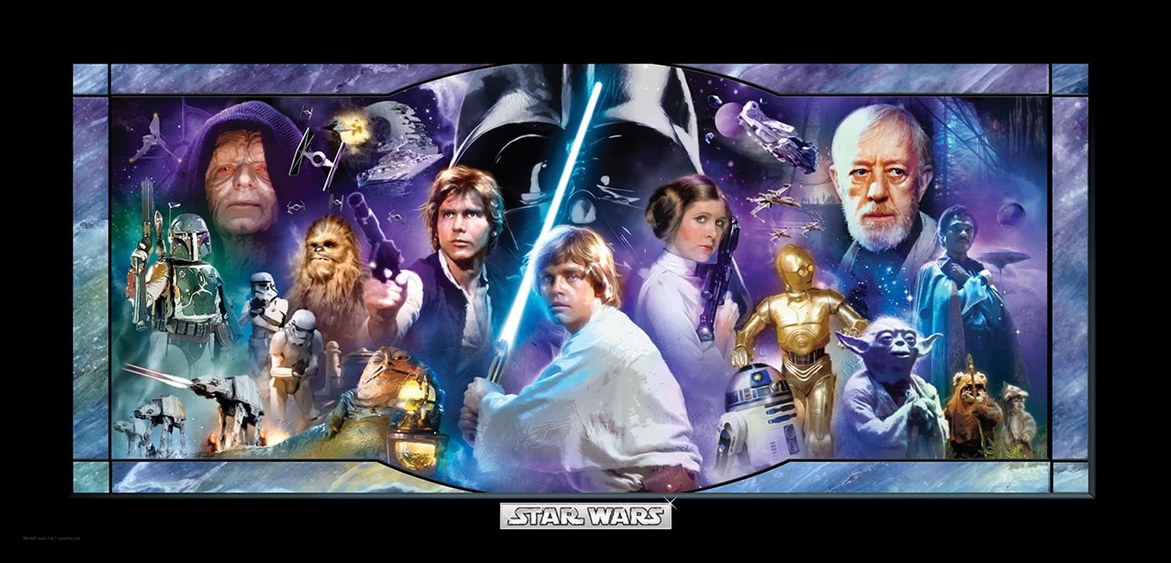 Classic Star Wars: In A Galaxy Far, Far Away Half Wall Mural | Merchandise