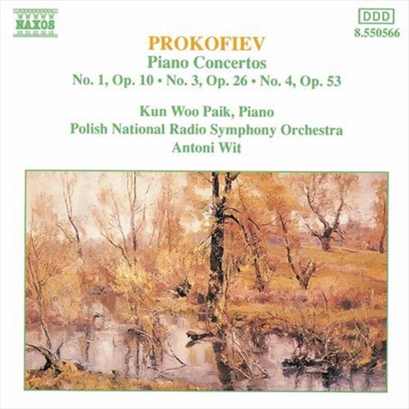 Prokofiev Piano Concertos No 1 Op 10 No 3 Op 26 No 4 Op 53 | CD