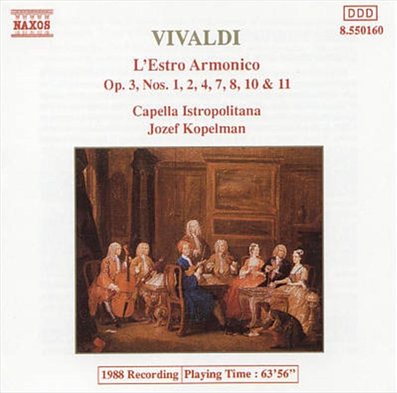 Vivaldi:Lestro Armonico Op 3 | CD