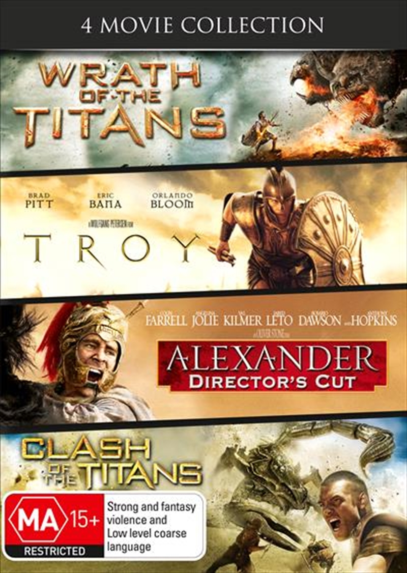 Wrath Of The Titans / Clash Of The Titans / Alexander / Troy | DVD