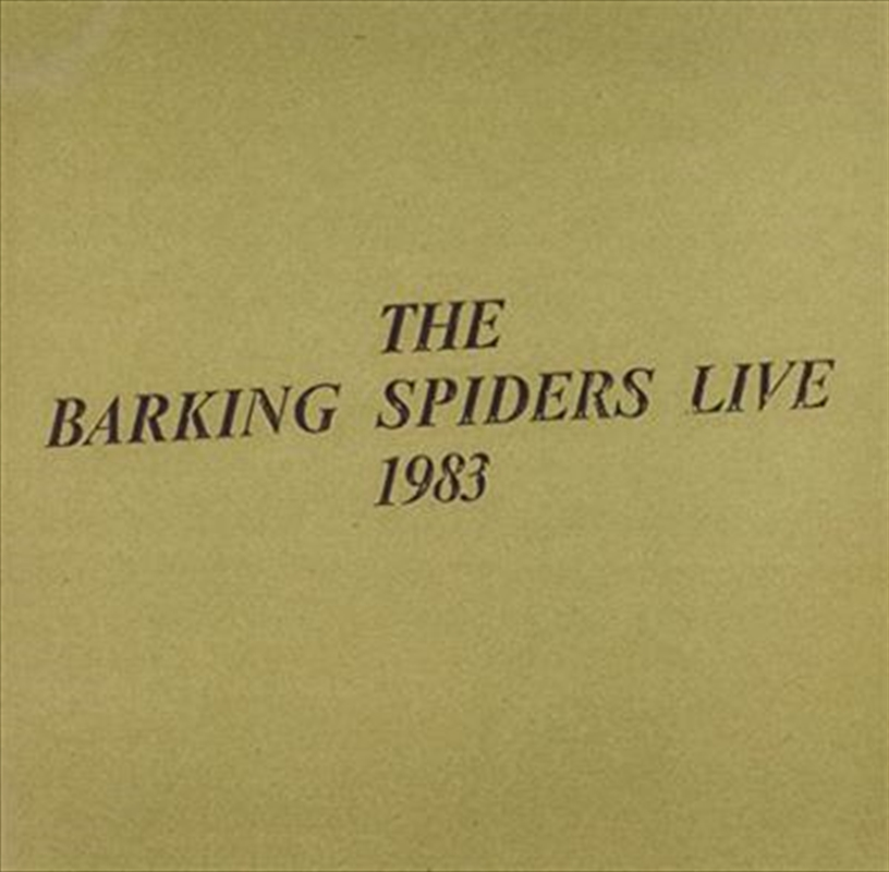 Barking Spiders Live 1993 | CD