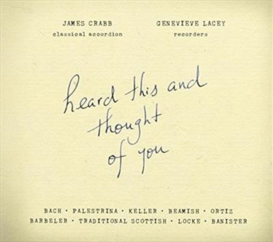 Heard This And Thought Of You | CD
