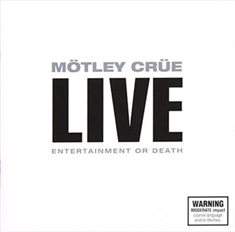 Live- Entertainment Or Death | CD
