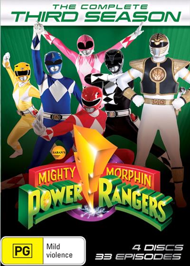 Buy Mighty Morphin Power Rangers Season 3 Sanity Online