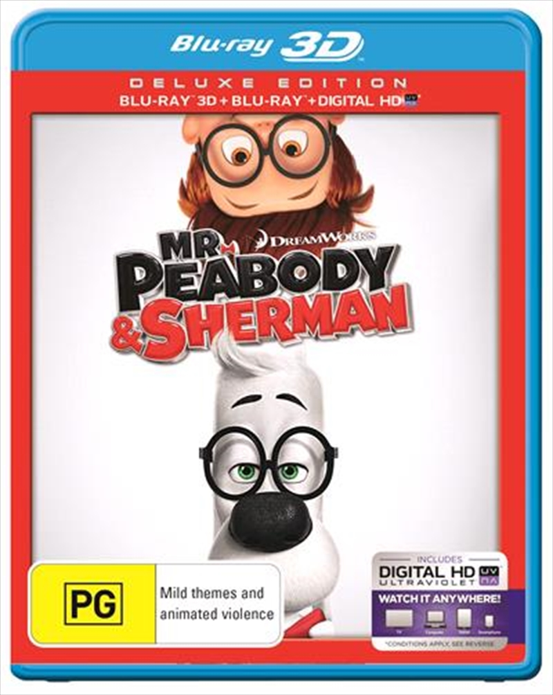 Mr Peabody and Sherman | 3D + 2D Blu-ray + UV