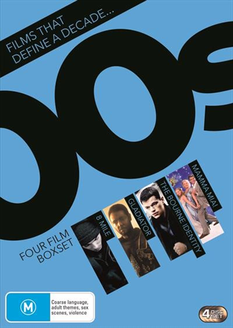 8 Mile / The Bourne Identity / Gladiator / Mamma Mia! 4 Movie Collection   DVD