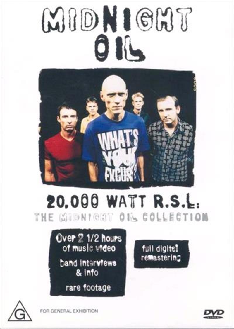 20000 Watt Rsl: The Midnight Oil Collection | DVD