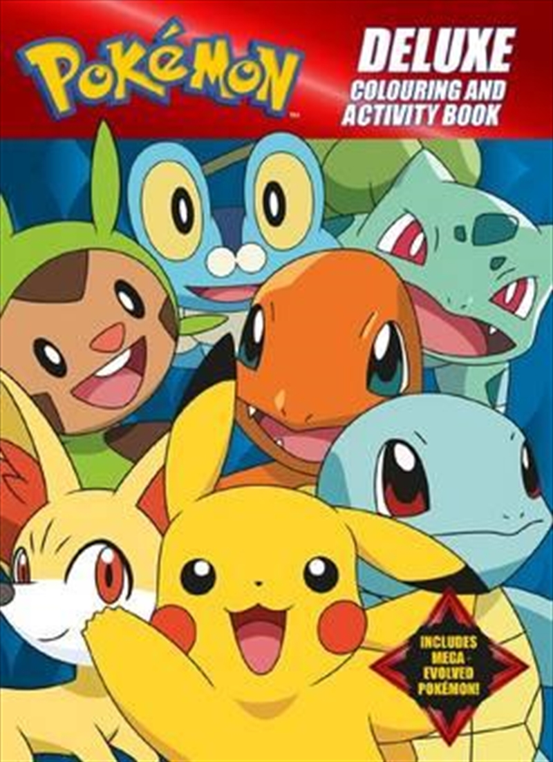 Pokemon Deluxe Colouring and Activity Book   Paperback Book