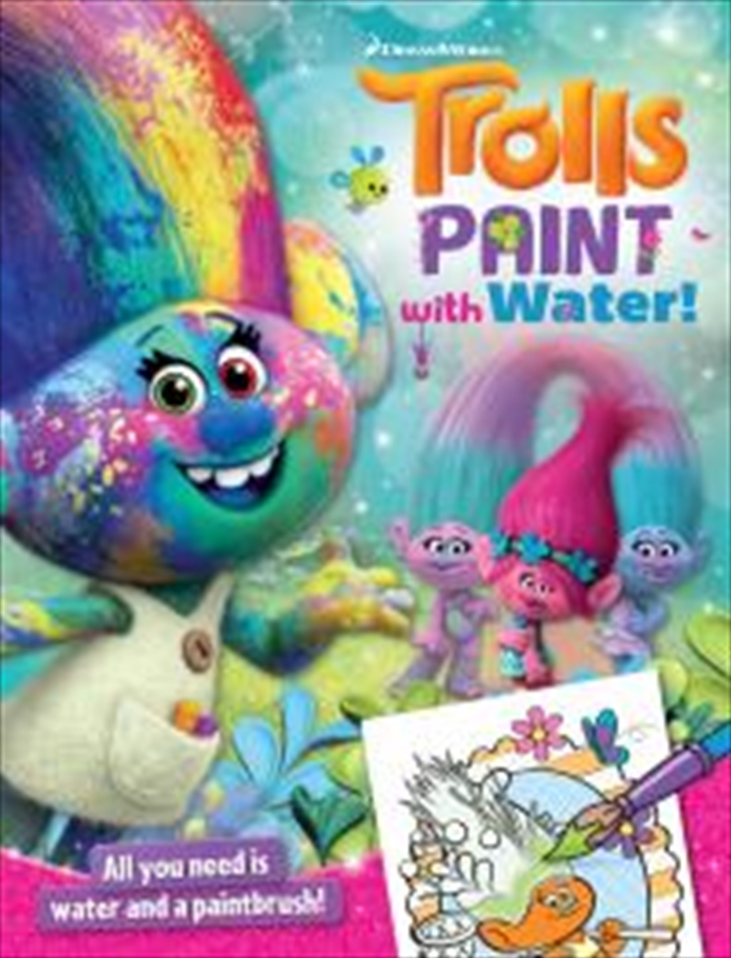 Trolls Paint With Water | Paperback Book