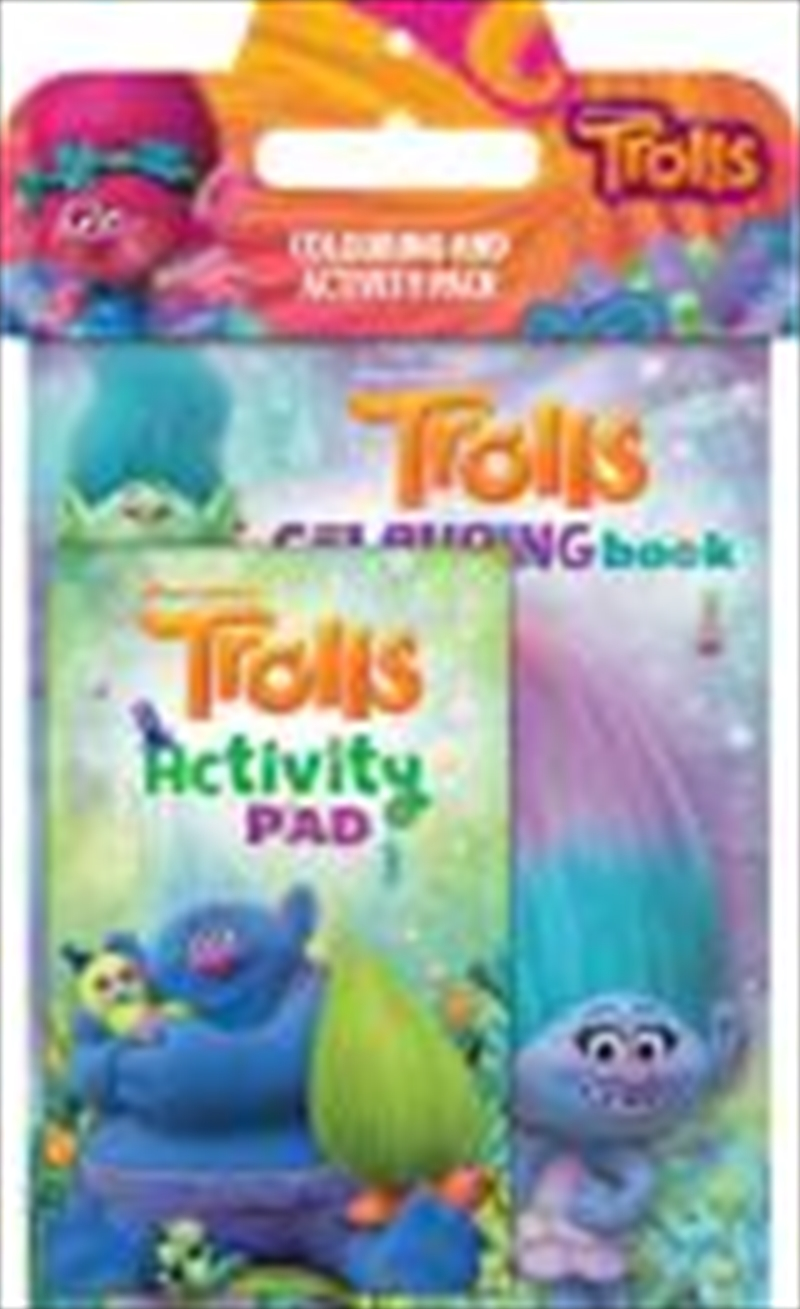 Trolls Colouring Activity Pack | Paperback Book