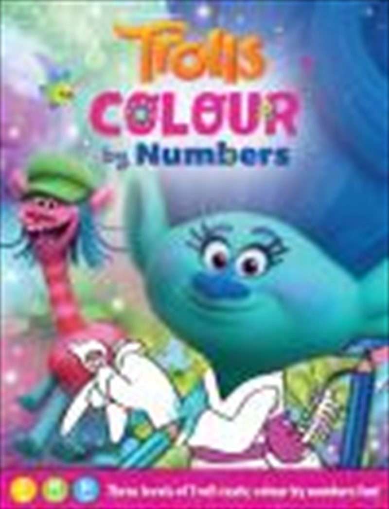 Order Trolls Colour By Numbers Paperback Book | Sanity