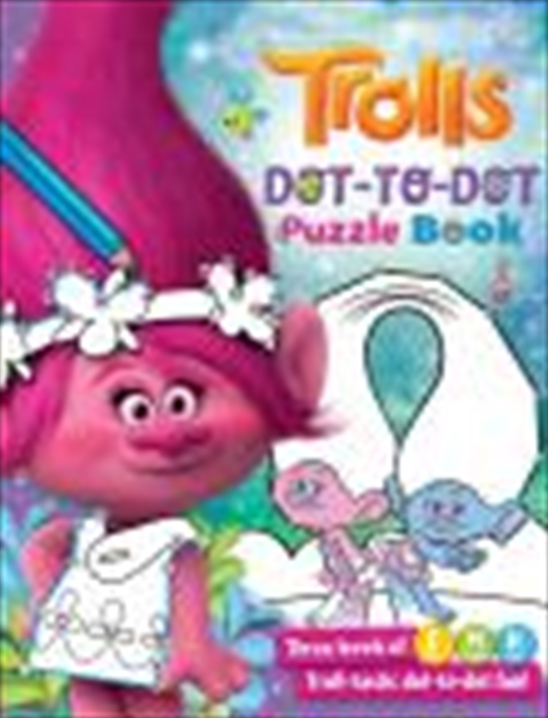 Trolls: Dot To Dot Puzzle Book | Paperback Book